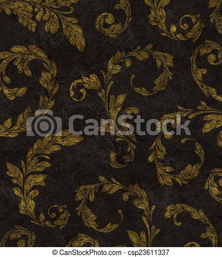 Laurel dorado deja textura de fondo - csp23611337