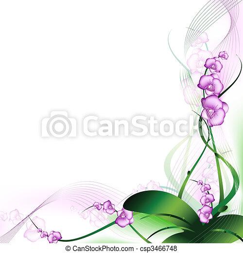 Orquídea púrpura - csp3466748