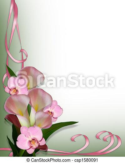 Lirios de Calla y orquídeas - csp1580091