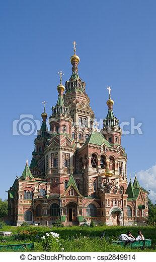 Iglesia ortodoxa en Peterhof - csp2849914