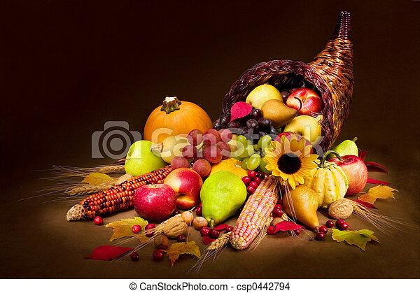 Autumn cornucopia - csp0442794