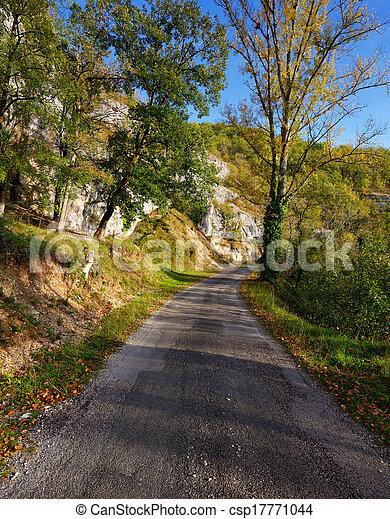 Un camino rural en un soleado día de otoño - csp17771044
