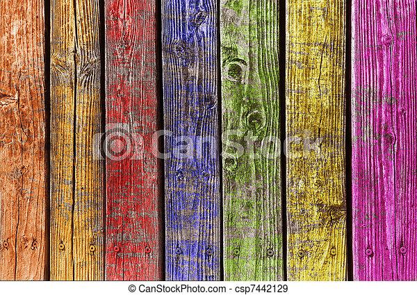 Otra madera colorida - csp7442129