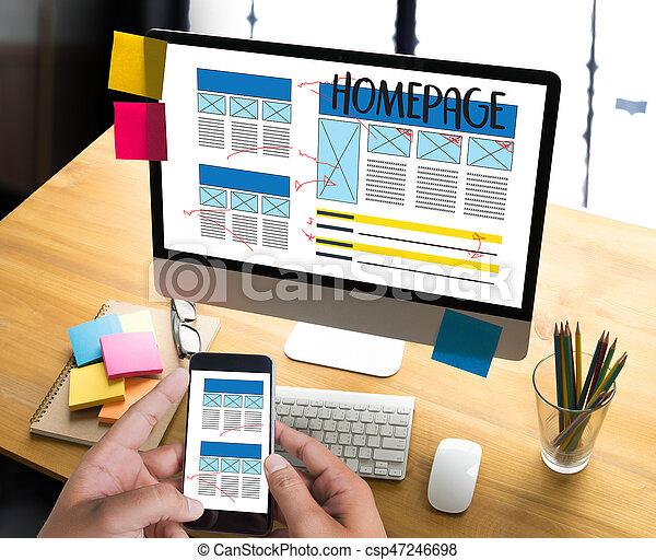 página web de internet web de búsquedas de direcciones globales de internet software de redes de WWWW dominio HTML página de tecnología de innovación de HTML - csp47246698