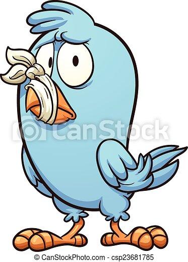 Pájaro en silencio - csp23681785