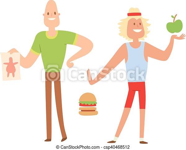 La gente en forma de belleza pierde peso - csp40468512