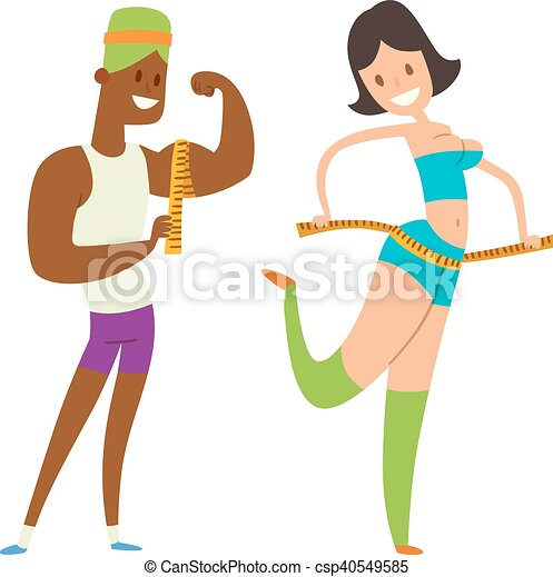 La gente en forma de belleza pierde peso - csp40549585