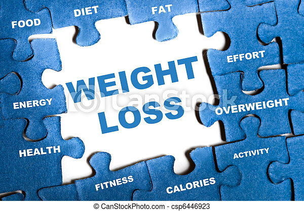 Un rompecabezas de pérdida de peso - csp6446923