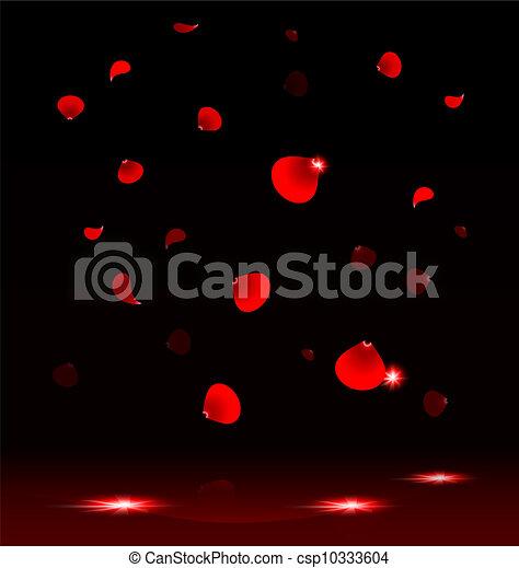 Pétalos voladores de rosa - csp10333604
