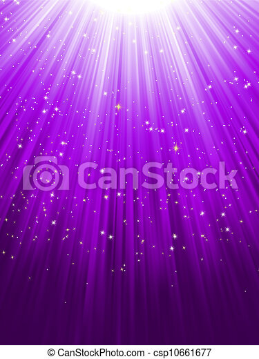 Estrellas de fondo rayado púrpura. EPS 8 - csp10661677