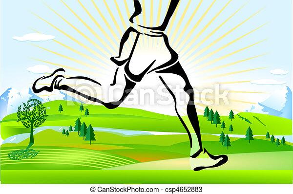 Corriendo por todo el país - csp4652883