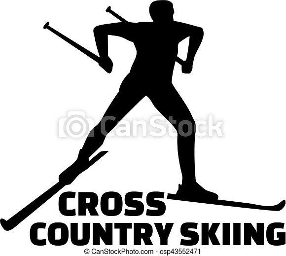 A esquiar en el campo - csp43552471