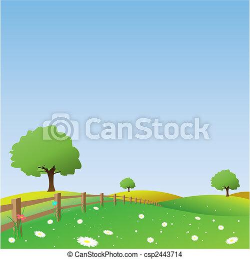 Un paisaje de campo - csp2443714
