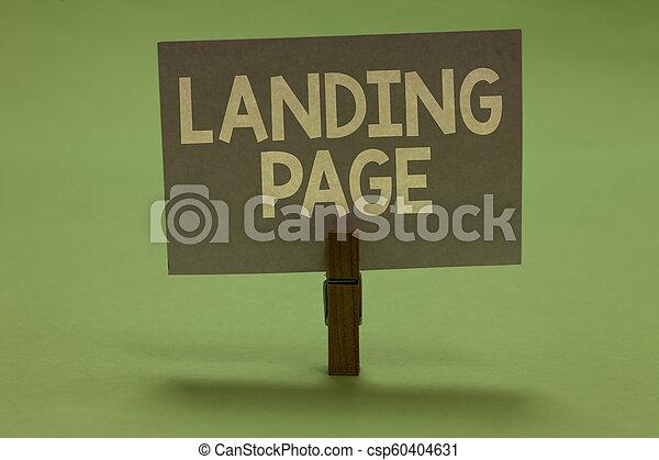 La página de texto escrito. El concepto de negocios para Website accesado por conectar un enlace en otra página web Clothespin sosteniendo papel gris ideas importantes de comunicación. - csp60404631