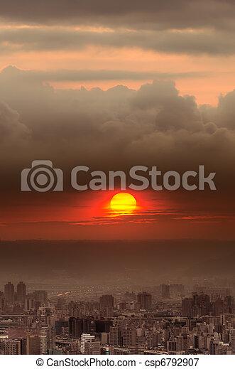 El paisaje de Sunset City - csp6792907