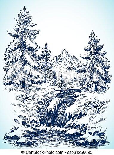 Paisaje nevado de invierno - csp31266695