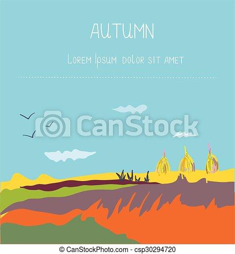Trasfondo de paisajes de otoño - csp30294720