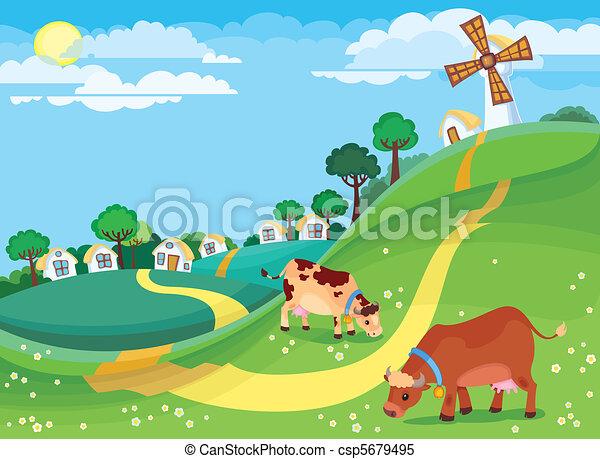Un paisaje rural - csp5679495