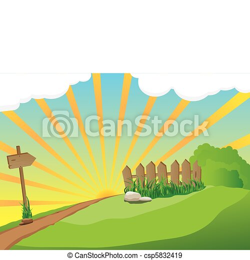 Un paisaje rural - csp5832419