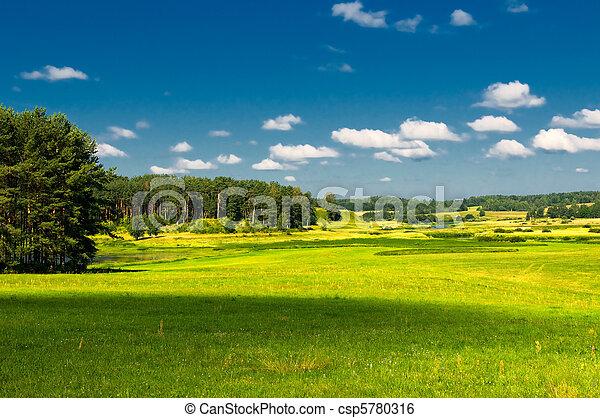 Un paisaje rural - csp5780316
