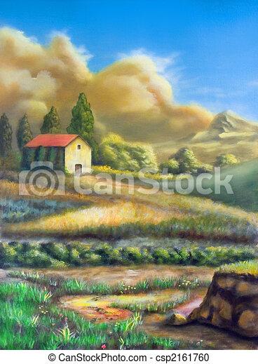 Un paisaje rural italiano - csp2161760