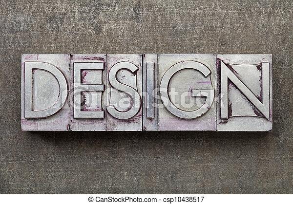 Palabra de diseño en tipo metal - csp10438517