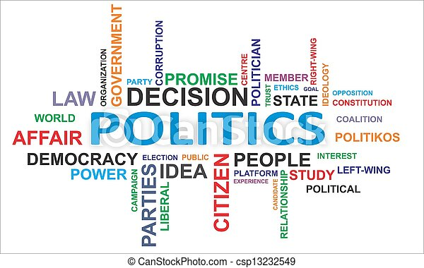 Nube de palabras, política - csp13232549