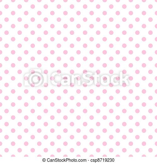 Palear lunares rosas en blanco - csp8719230