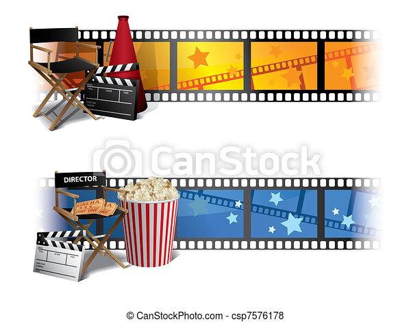 Pancartas de cine - csp7576178