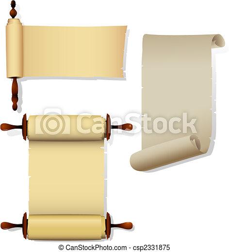 Pancartas de pergamino - csp2331875