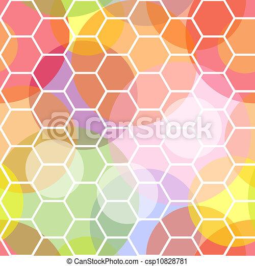Panel de panal sin techo y patrones transparentes - csp10828781