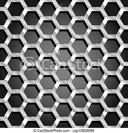 Panel de panal sin techo y patrones transparentes - csp10829089
