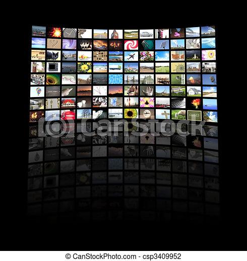 Panel de TV - csp3409952