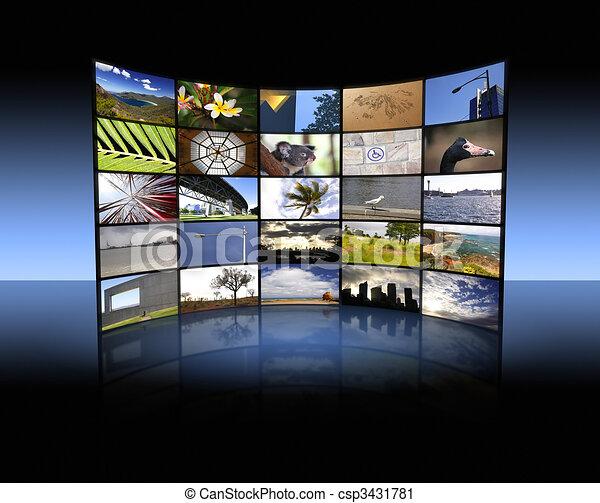 Panel de TV - csp3431781