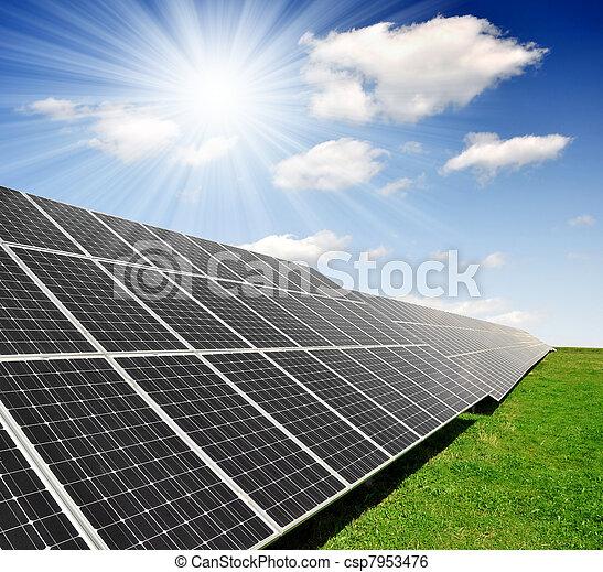 Panel de energía solar - csp7953476
