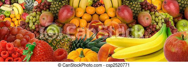 Un panorama de frutas - csp2520771