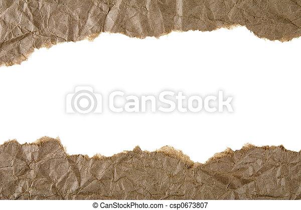 Papel marrón roto - csp0673807