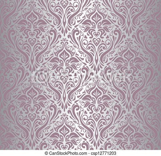 Papel rosado y plateado - csp12771203