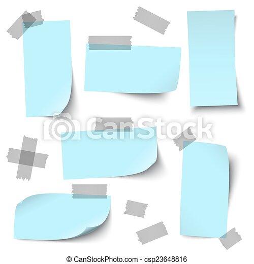 Papeles vacíos con accesorios - csp23648816