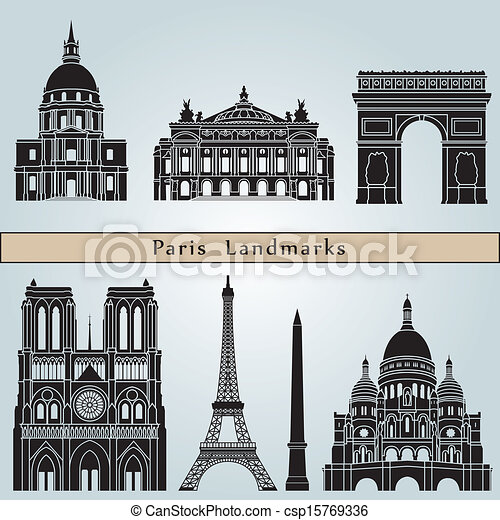 Marcos y monumentos de París - csp15769336