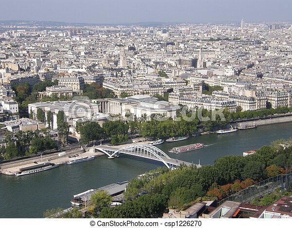 Una vista aérea de París - csp1226270