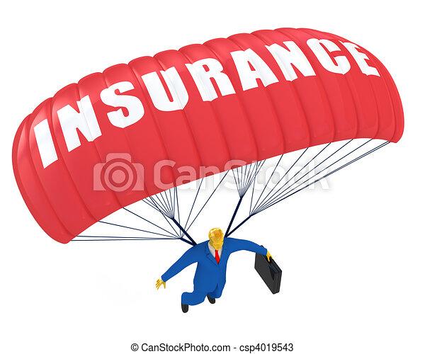 Paracaidas de seguro - csp4019543