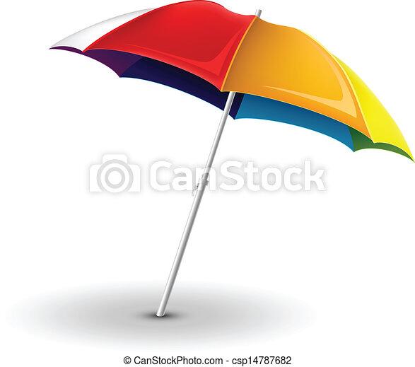 Sombrilla de playa - csp14787682
