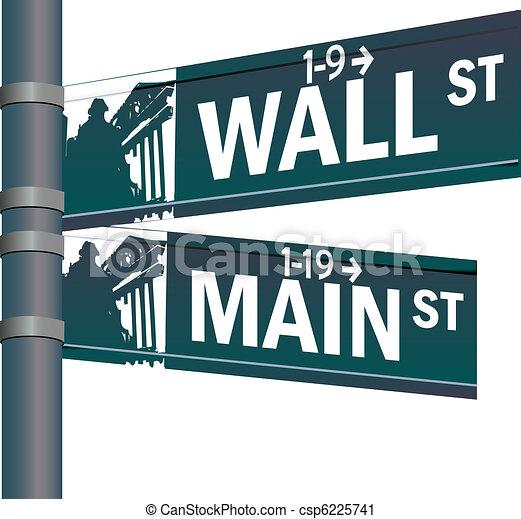 La intersección del vector de Wall Street - csp6225741