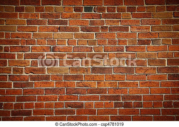 Una vieja pared de ladrillos - csp4781019