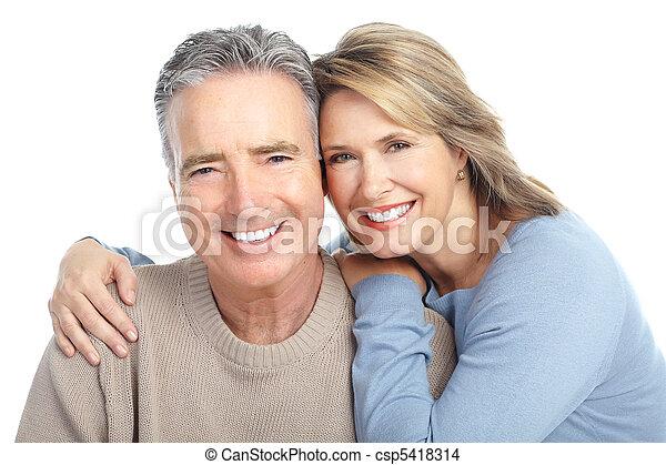 La pareja de ancianos - csp5418314