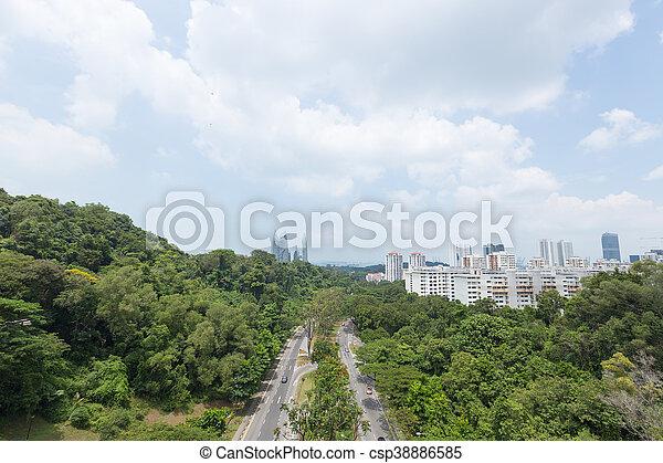 Estacionamiento en Singapur. - csp38886585