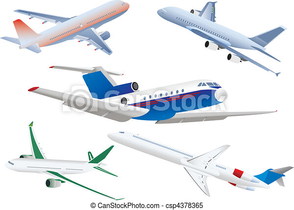 Aviones de pasajeros - csp4378365