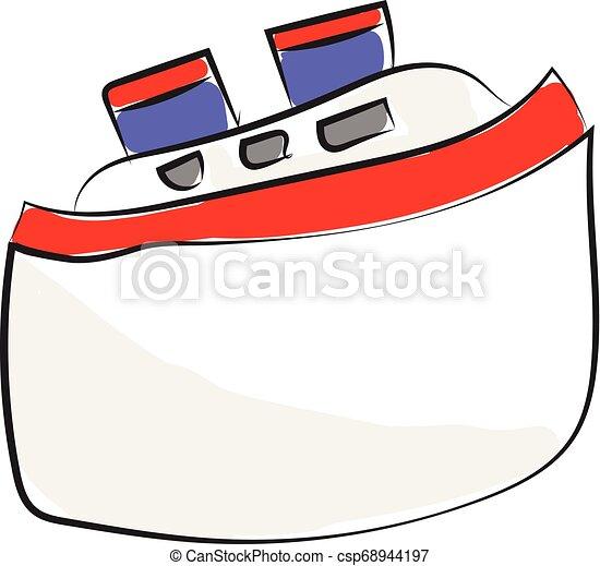 Vector de naves pasajeros o ilustración de colores - csp68944197
