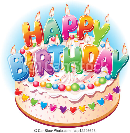 Pastel de cumpleaños - csp12298648